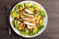 Top view of Orange Walnut Chicken Salad Royalty Free Stock Photo