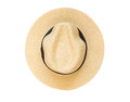 Top View Panama Hat Isolated O...