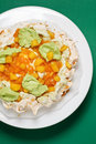 Top view of a Pavlova cake Royalty Free Stock Photography