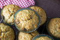 Top view of pile of banana muffins Royalty Free Stock Photography