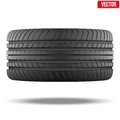 Top view of Realistic rubber tire symbol. Vector