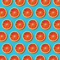 Top View Red Orange Slices Pat...