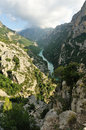 Top view on the river in verdon canyon france provence Stock Image