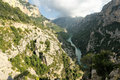 Top view on the river in verdon canyon france provence Royalty Free Stock Images