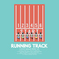 Top view running track vector illustration Stock Photos