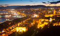 Top  view of seaside part of Malaga Royalty Free Stock Photo