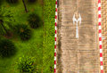 Top view shoot of street and garden Royalty Free Stock Photography