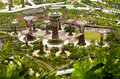 Top View shot of Gardens by the Bay, Singapore Royalty Free Stock Photo