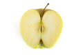 Top view of sliced yellow apple Royalty Free Stock Photo