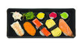 Top view sushi japanese set mix rolls Royalty Free Stock Photo
