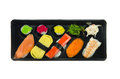 Top view sushi mix rolls japanese set Stock Images