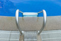 Top view swimming pool stair at hotel Royalty Free Stock Photo