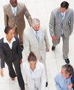 Top view of a team of business people, walking Royalty Free Stock Images