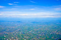 Top view of thailand can see building and agriculture Stock Photo