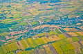 Top view of thailand can see building and agriculture Stock Photos