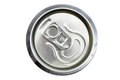 Top view of an unopened drinks can Royalty Free Stock Photos