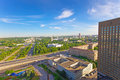 The top view on VDNH All-Russia Exhibition Centre Royalty Free Stock Images