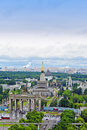 The top view on VDNHAll-Russia Exhibition Centre Royalty Free Stock Photography