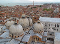 Top view of Venice roof. Stock Images