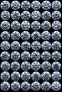 Top views of diamonds on black Royalty Free Stock Images