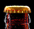Top of wet beer bottle Royalty Free Stock Photo