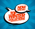 Top winter collections now available pop art style design Royalty Free Stock Images
