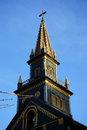 Top of the Wooden Church Royalty Free Stock Photo