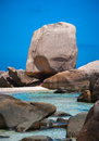 Topical Beach With Unusual Rock Formations Royalty Free Stock Photo