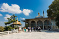 Topkapi palace on august in istanbul turkey turista the was transformed into museum Stock Photo