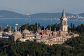 Topkapi palace istanbul the on top of a hill and the bosphorus in the horizon turkey Stock Photography