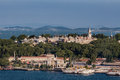 Topkapi palace istanbul the on top of a hill the golden horn and the bosphorus in the horizon turkey Stock Image