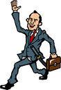 Topknot businessman Royalty Free Stock Photo