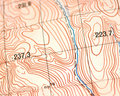 Topographic map Stock Photos