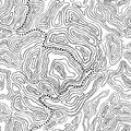Topography seamless pattern with lines Royalty Free Stock Image