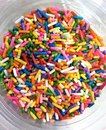 Topping sprinkle colorfol for desserts sweet Royalty Free Stock Images