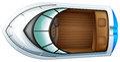 Topview łódź Zdjęcia Stock