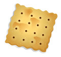 A topview of a biscuit illustration on white background Royalty Free Stock Image