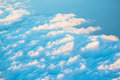 Topview of cloud scatter on blue sky in nature Royalty Free Stock Images