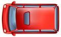 A topview of a minivan