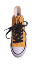 Topview of yellow sneaker Stock Photo
