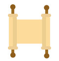 Torah icon. Scroll flat style. Scripture is isolated on a white background. Torah logo. Vector illustration Royalty Free Stock Photo