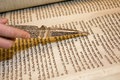 Torah Reading With A Pointer Royalty Free Stock Images