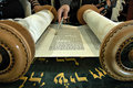 Torah reading in a synagogue Stock Photography