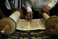 Torah reading in a synagogue Royalty Free Stock Image