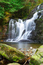 Torc waterfall in killarney national park ireland Royalty Free Stock Photography