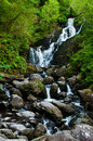 Torc waterfall stunning in the killarney national park ireland Stock Photos
