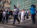 Torchbearer carries the olympic flame vladivostok russia november in relay of on november in vladivostok russia Royalty Free Stock Photo