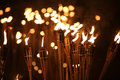 Torches at night Royalty Free Stock Photo