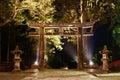 Tori gate de piedra en nikko japón Imagen de archivo libre de regalías