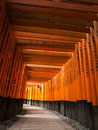 Tori gates at fushimi inari shrine the in kyoto japan Royalty Free Stock Photography